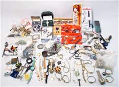 LARGE COSTUME JEWELRY, WATCHES AND MISC LOT