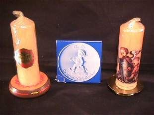 HUMMEL COLLECTOR CLUB PLAQUE CANDLES STANDS