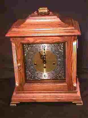 HOWARD MILLER MANTEL CLOCK CHIME WOOD CASE