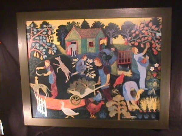 1175: PRINT OF PAINTING BY ANNA PUGH FRAMED