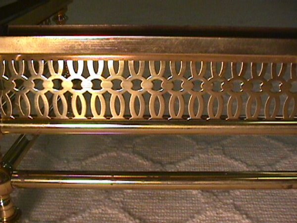 1432: BRASS FIREPLACE HEARTH SURROUND GRATE - 3