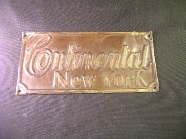 15: ANTIQUE CONTINENTAL INSURANCE NY FIRE MARK PLAQUE