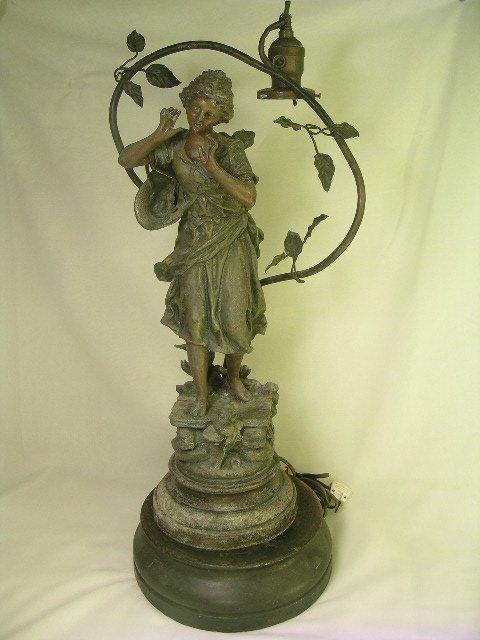 22: ART NOUVEAU RANCOULET FIGURAL LAMP