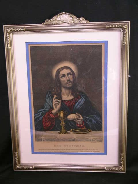319: ORIGINAL CURRIER & IVES OUR REDEEMER LITHOGRAPH