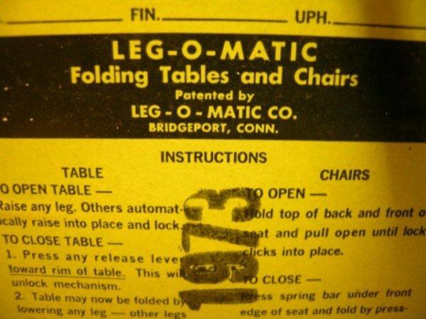 488: 1950'S RETRO LEG O MATIC FOLDING CHAIRS 8 PCS - 8