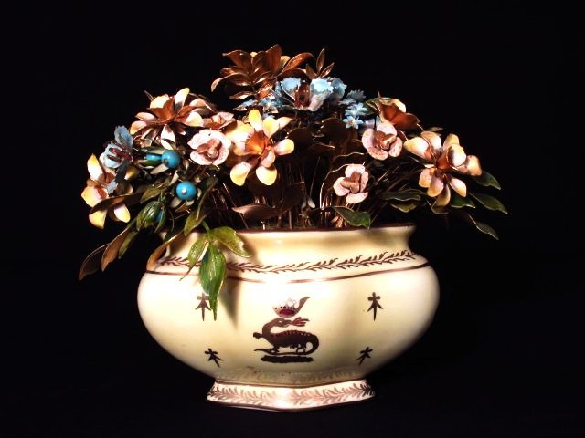 "JANE HUTCHESON FOR GORHAM ""FLEURS DES SIECLES"" ENAMELED"