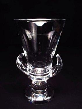 STEUBEN FOOTED GLASS VASE