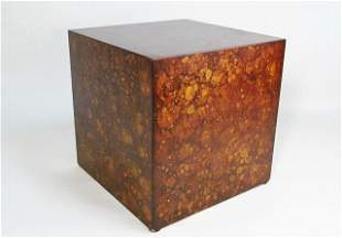 FAUX FINISHED DECORATIVE CUBE PEDESTAL STAND