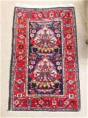 """SEMI-ANTIQUE PERSIAN HAND KNOTTED WOOL RUG - 2'2"""" x"""