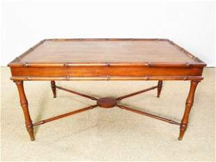 VINTAGE BRANDT BAMBOO STYLE COFFEE OR SIDE TABLE