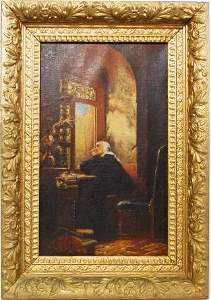 HANS CHRISTIAN CLAUSEN LEY OIL ON CANVAS PAINTING