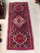 """PERSIAN HERIZ HAND KNOTTED WOOL RUG - 6'8"""" X 2'10"""""""