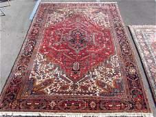 LARGE HERIZ PERSIAN WOOL AREA RUG  111 x 156