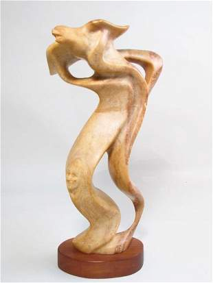 """DIXIE WHATLEY STONE CARVING """"ELK WOMAN"""""""