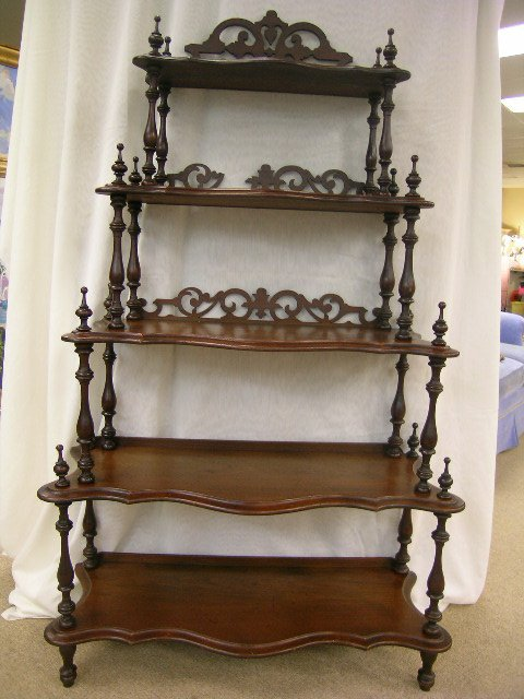722: ANTIQUE VICTORIAN WHAT-NOT WHATNOT CURIO SHELVES
