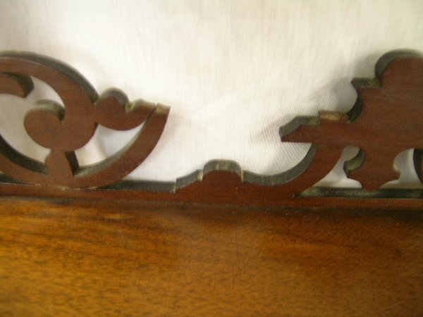 722: ANTIQUE VICTORIAN WHAT-NOT WHATNOT CURIO SHELVES - 4