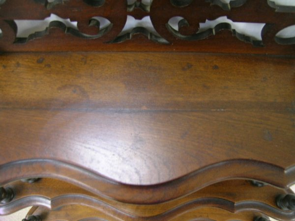 722: ANTIQUE VICTORIAN WHAT-NOT WHATNOT CURIO SHELVES - 6