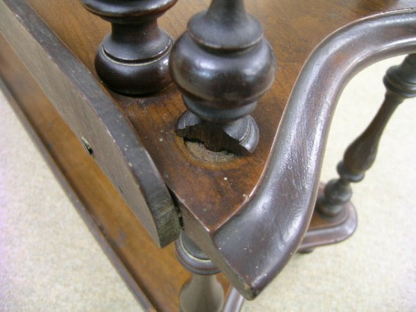 722: ANTIQUE VICTORIAN WHAT-NOT WHATNOT CURIO SHELVES - 8