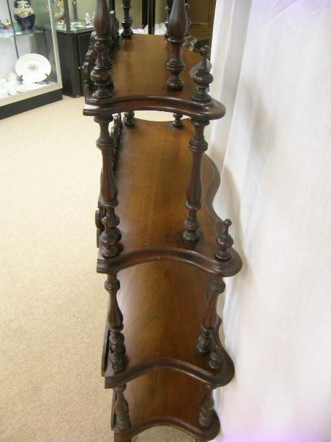 722: ANTIQUE VICTORIAN WHAT-NOT WHATNOT CURIO SHELVES - 9
