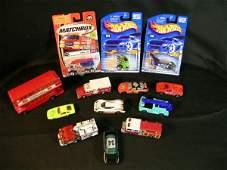 282: GROUP ASST MATCH BOX HOT WHEELS ETC CARS BUS 13 PC