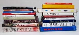 LARGE LOT ASSORTED VINTAGE ART BOOKS: MORRIS LOUIS,