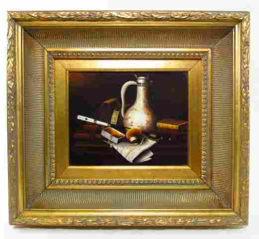 ANTHONY FRANZIA OIL ON CANVAS STILL LIFE PAINTING