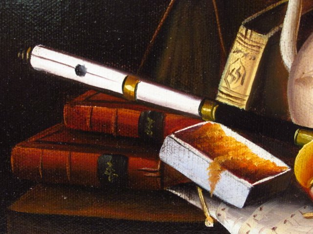 ANTHONY FRANZIA OIL ON CANVAS STILL LIFE PAINTING - 3