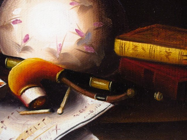ANTHONY FRANZIA OIL ON CANVAS STILL LIFE PAINTING - 4