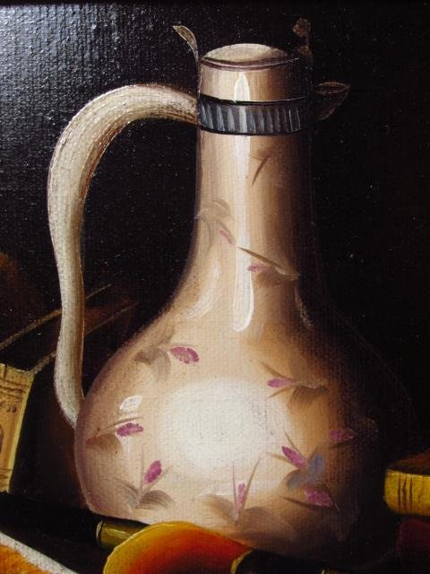 ANTHONY FRANZIA OIL ON CANVAS STILL LIFE PAINTING - 5