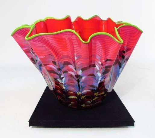 "DALE CHIHULY ""MACCHIA"" BLOWN GLASS BOWL"