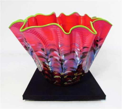 Dale Chihuly Quot Macchia Quot Blown Glass Bowl