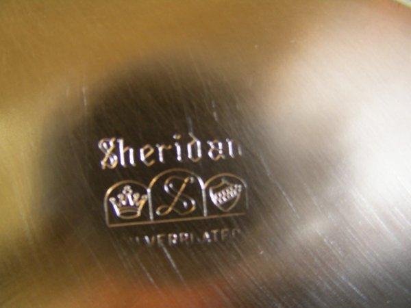 640: SHERIDAN SILVER CO SILVER PLATED CHAFING DISH LG - 7