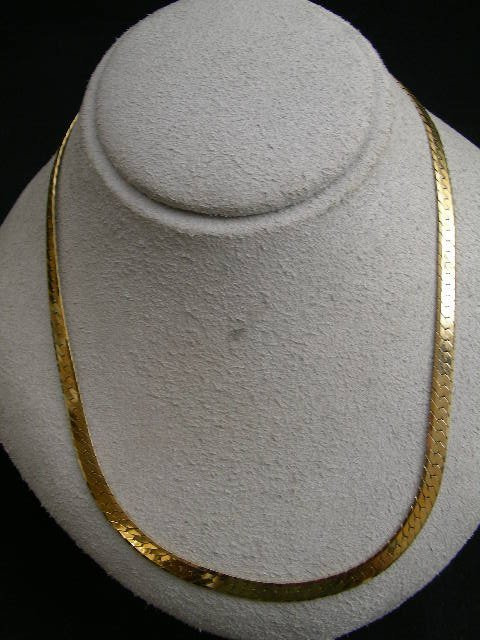770: 14 KT ITALIAN GOLD SERPENTINE CHAIN NECKLACE 18""