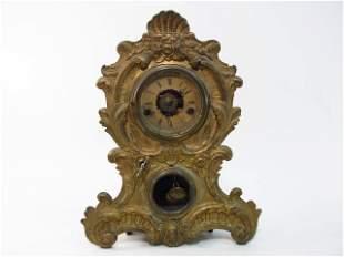 19TH C AMERICAN CLOCK CO ROCOCO STYLE SHELF CLOCK