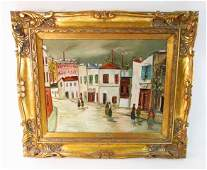 OIL ON CANVAS PAINTING AFTER MAURICE UTRILLO