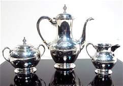 THREE PIECE S. KIRK & SONS STERLING SILVER TEA SET
