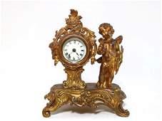 ANSONIA CLOCK COMPANY GILDED ROCOCO REVIVAL CLOCK
