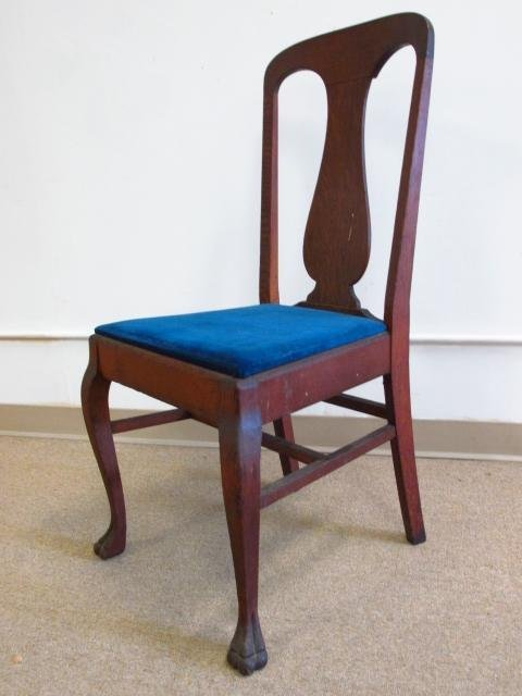 FIVE TIGER OAK DINING CHAIRS - 2