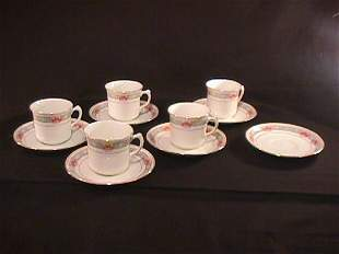 11 PC ATLAS CHINA STOKE ON TRENT CUPS SAUCERS