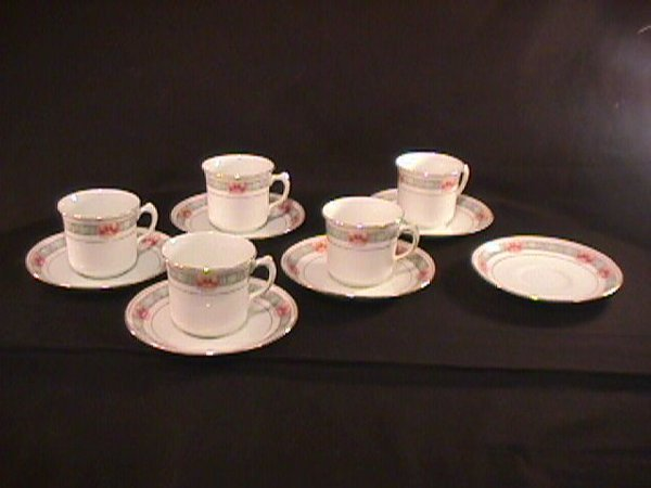 3: 11 PC ATLAS CHINA STOKE ON TRENT  CUPS SAUCERS