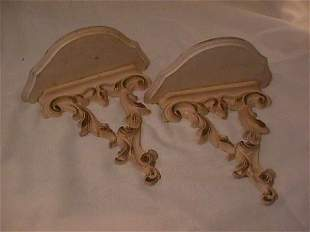 PAIR VINTAGE SYROCO WALL SCONCE SCONCES