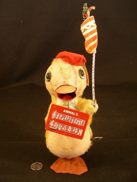 VINTAGE WORKING WIND UP BABY DUCK TOY MADE IN JAPAN