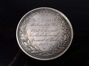 WISCONSIN STATE AGRICTULTURAL SOCIETY MEDAL - 1873