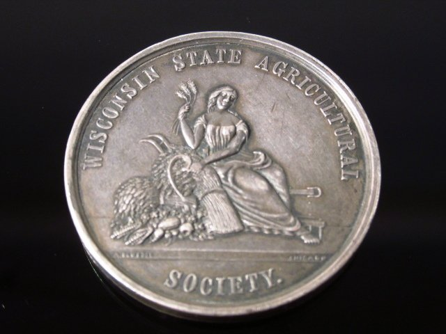 WISCONSIN STATE AGRICTULTURAL SOCIETY MEDAL - 1873 - 2