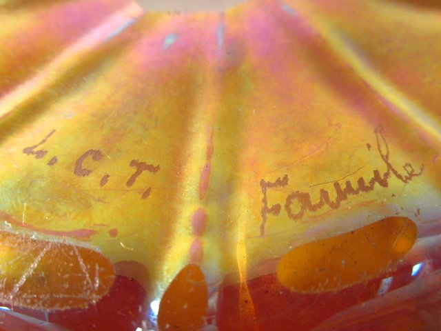 LOUIS COMFORT TIFFANY FAVRILE GLASS BOWL - 2
