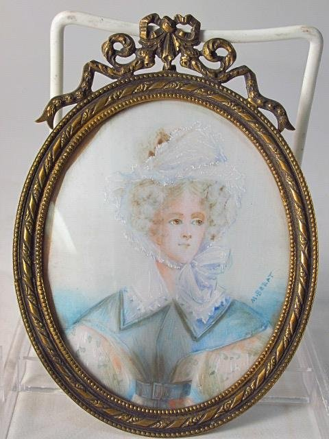 TWO ANTIQUE MINIATURE PORTRAITS ON IVORY - 3