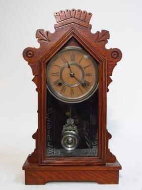 ANSONIA GINGERBREAD SHELF CLOCK