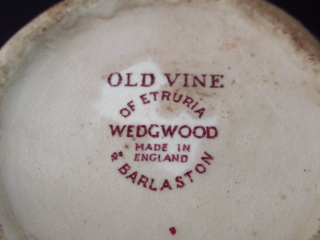 "WEDGWOOD ""OLD VINE"" PORCELAIN DINNERWARE - 9"