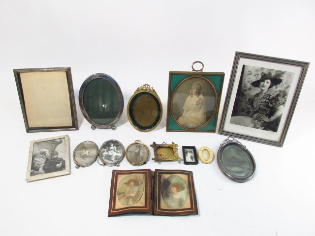 VINTAGE PHOTOGRAPH FRAME LOT, STERLING, GUILLOCHE