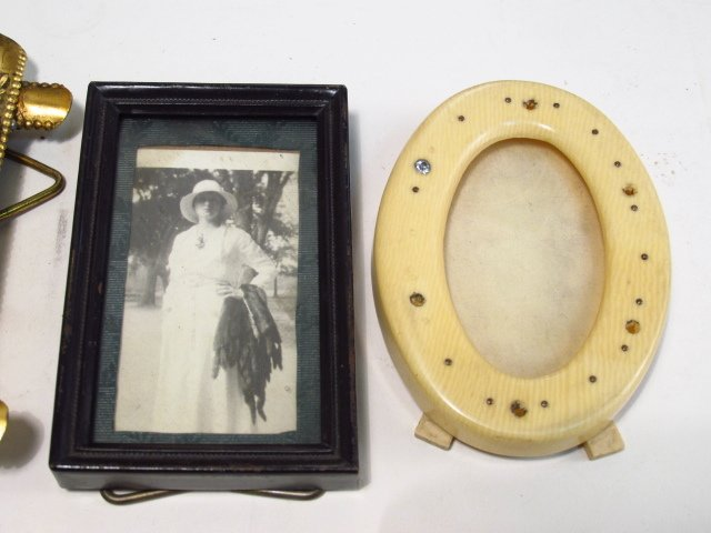VINTAGE PHOTOGRAPH FRAME LOT, STERLING, GUILLOCHE - 5